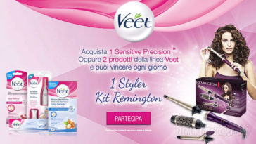 Concorso Veet 2018: vinci 1 Styler Kit Remington