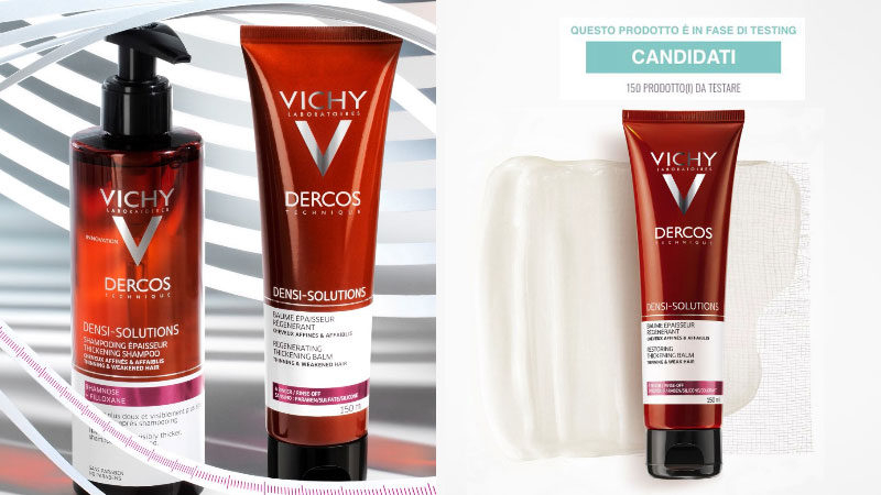 Diventa tester Dercos Densi-Solutions Shampoo e Balsamo Rigenera Spessore