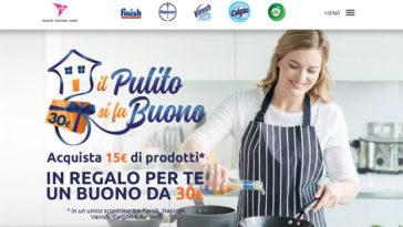 Il pulito si fa buono: per te un buono spesa da 30€