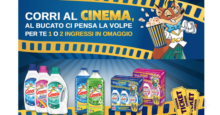Vai al cinema gratis con il detersivo General