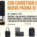 Raccolta punti Moleskine da Carrefour