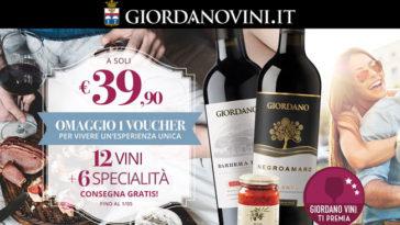 Giordani Vini ti premia con un regalo che vale 20,00€!