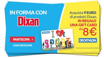In forma con Dixan: in regalo buono Decathlon da 8€