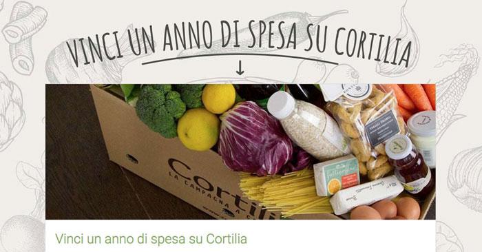 Vinci un anno di spesa su Cortilia: partecipa gratis!