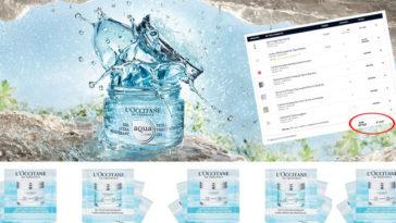 Campioni omaggio Aqua Réotier L'Occitane: prova la nuova linea!