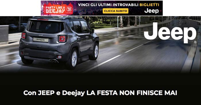 Concorso Radio Deejay: vinci bigliettiParty Like A Deejay