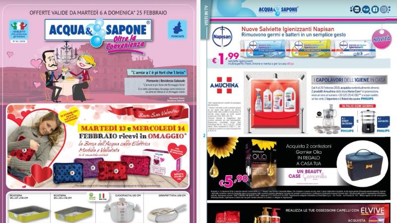 Volantino Acqua&Sapone dal 06-02-2018 al 25-02-2018