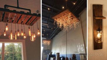 5 idee per realizzare un lampadario con i pallets