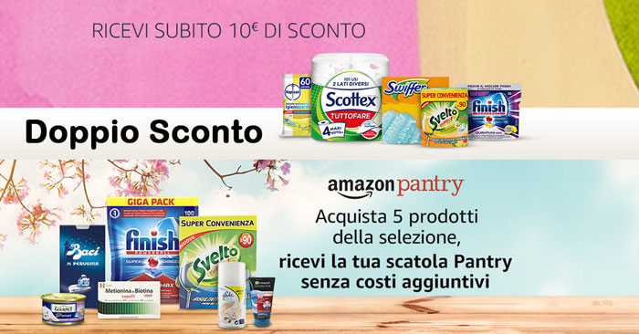 Amazon Pantry: 10 euro di sconto immediato!