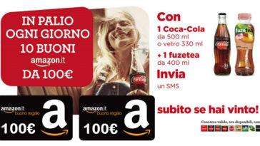 Coca-Cola e Autogrilli: vinci buoni Amazon da 100€