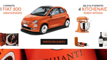 Concorso Orange Moments: vinci Fiat 500, Kitchenaid e altri premi!
