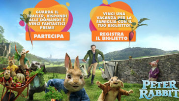 Concorso Peter Rabbit e Uci Cinemas: vinci vacanze e green kit