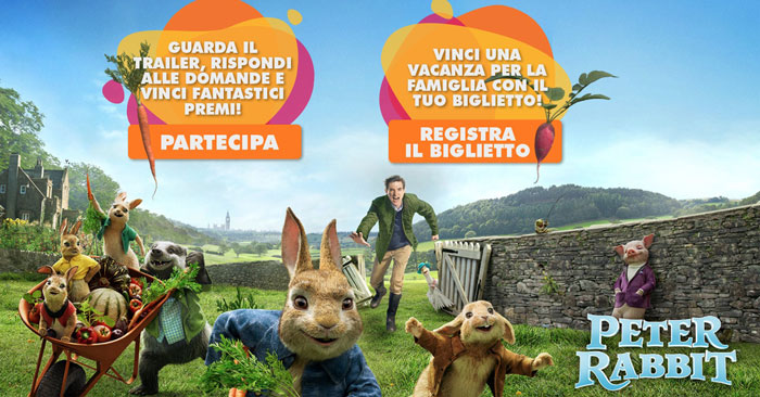 Concorso Peter Rabbit e Uci Cinemas: vinci vacanze e green kit