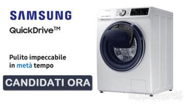 Diventa tester della lavatrice Samsung QuickDrive