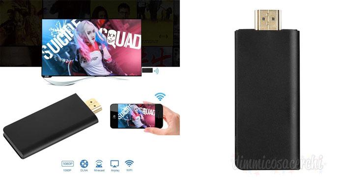 Dongle per Collegare Smartphone Tablet iPhone iPad alla TV