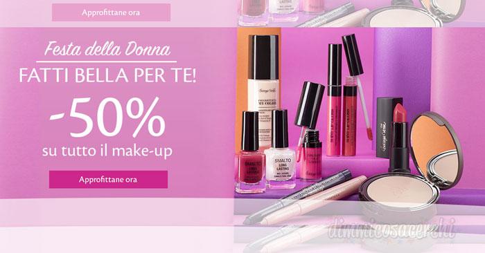 Festa della donna con Bottega Verde: 50% di sconto sul make up