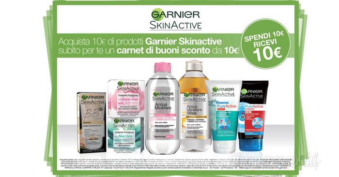Garnier ti regala la spesa: per te 10€ di buoni sconto