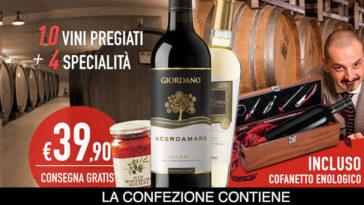 Giordano Vini: offerta con cofanetto enologico e consegna gratis