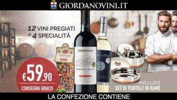Giordano Vini ti regala le pentole in rame