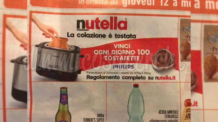 Nutella: la colazione è tostata. Vinci 100 tostafette Philips