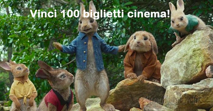 Vinci biglietti cinema per vedere Peter Rabbit - Il Film: partecipa gratis!