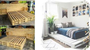 Realizzare un letto con i pallets: 5 idee da copiare