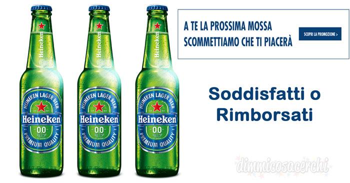 Soddisfatti o rimborsati birra Heineken Lager Beer 0.0