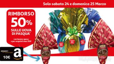 Spendi e riprendi Auchan sulle uova di Pasqua: buono spesa del 50%!