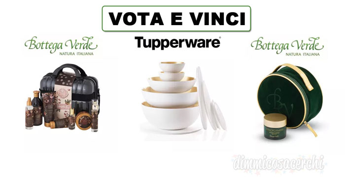 Super brands pop Award: vota e vinci Bottega Verde e Tupperware