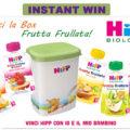 Vinci la Box Frutta Frullata HiPP Biologico