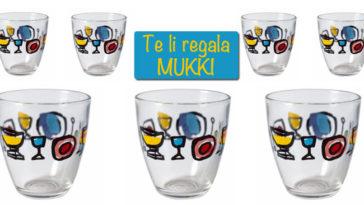 Mukki ti regala i bicchieri Luzzati