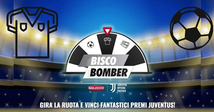 """Concorso Balocco """"Bisco Bomber"""": vinci maglie e palloni Juventus"""
