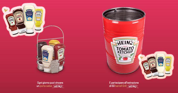 """Concorso Heinz """"Griglia Mon Amour"""": vinci barrel Grill e porta salse"""