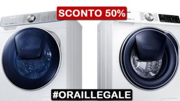 Ora illegale Unieuro: lavatrice Samsung Quick Drive a metà prezzo!