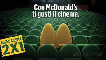 Promozione cinema McDonald's: in regalo ingressi cinema!