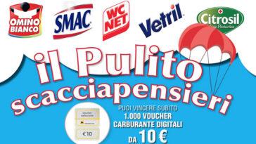 """Concorso """"Pulito scacciapensieri"""": vinci subito buoni carburante da 10,00€"""