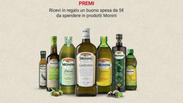 """Buoni sconto olio Monini con """"Condiamo l'Italia"""""""