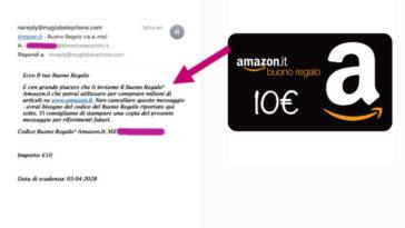 Buono Amazon da 10€ in omaggio