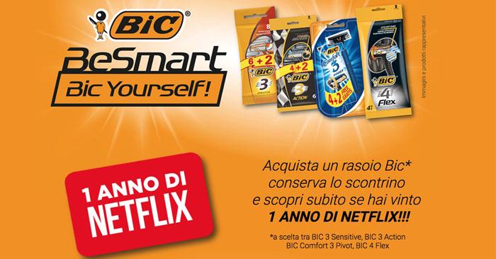 Con i rasoi Bic vinci un anno di Netflix: Be Smart Bic Yourself