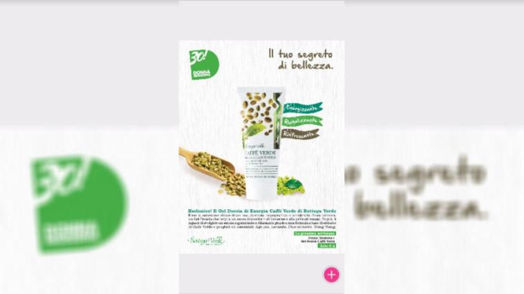 Donna Moderna con gel doccia caffè Verde Bottega Verde