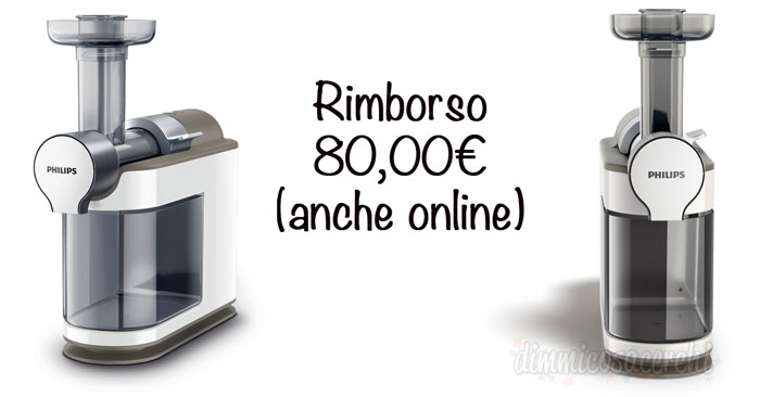 Estrattore di succo Philips Micro Juicer rimborso 80€