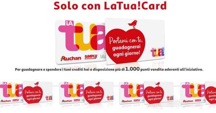 LaTuaCard: guadagna crediti convertibili in sconti per la spesa