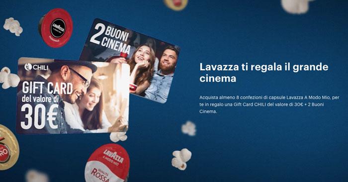 Premio certo Lavazza: in regalo biglietti cinema