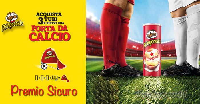 Premio sicuro Pringles: in regalo la porta da calcio