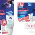 Rivista Chi con prodotti Aquaria Thermal Cosmetics (prezzo uscite)