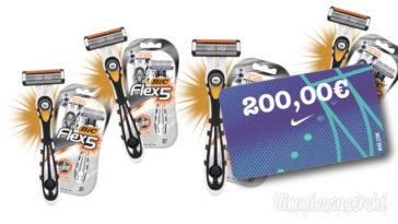 Vinci card Nike da 200€ con Bic Flex5: concorso instant win