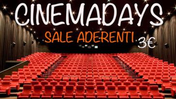 Cinema Days 2018: scopri le sale aderenti