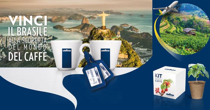 Concorso Lavazza: vinci un viaggio in Brasile e kit per coltivare il caffè