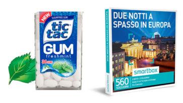 Scopri l'Europa con Tic Tac Gum: in palio Smartbox