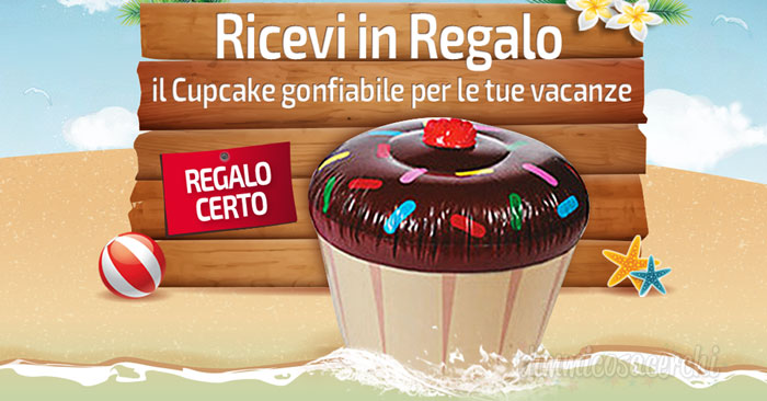 Aquafresh ti regala il Cup Cake gonfiabile